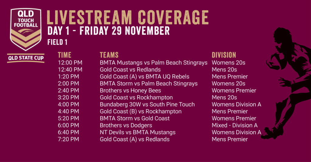Day 1 - QLD State Cup Livestream Coverage