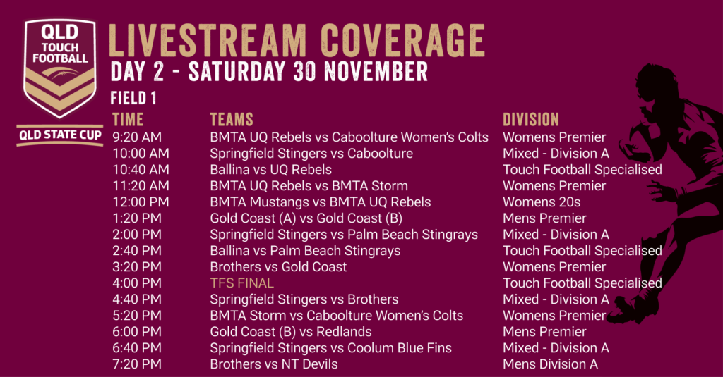 Day 2 - QLD State Cup Livestream Coverage